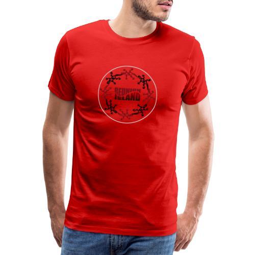 Badge Reunion Island Rouge - T-shirt Premium Homme