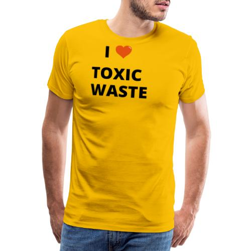real genius i heart toxic waste - Men's Premium T-Shirt