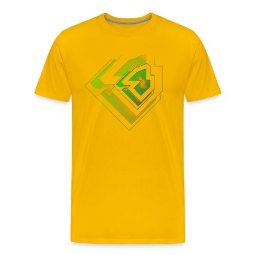 BRANDSHIRT LOGO GANGGREEN - Mannen Premium T-shirt