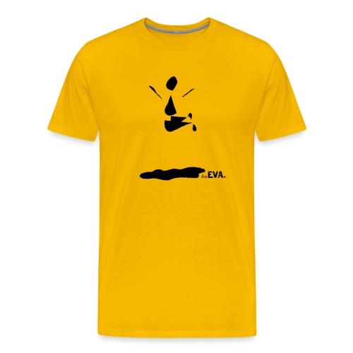 deEVA. Kollektion Pfütze Black - Männer Premium T-Shirt
