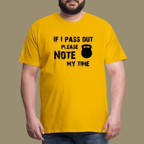 shirtsbydep passout - Mannen Premium T-shirt