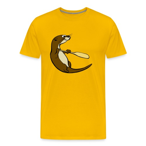 Classic Song of the Paddle otter logo - Men's Premium T-Shirt