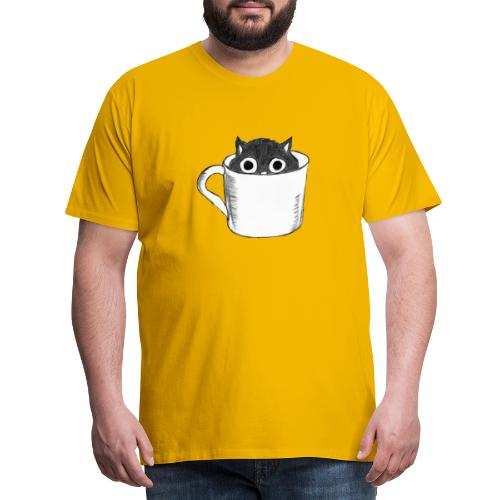Katze in Tasse - Männer Premium T-Shirt