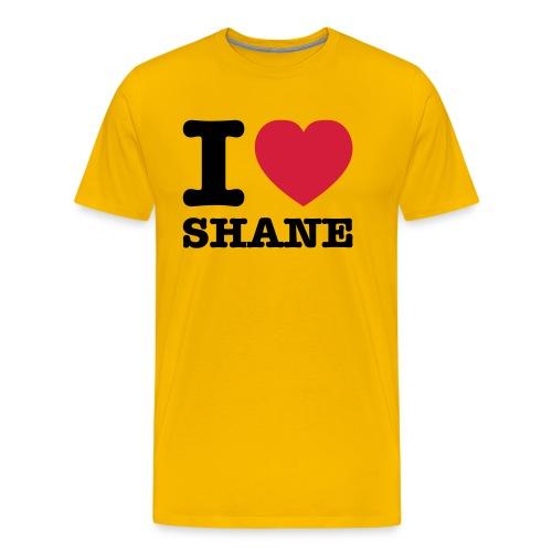 I love Shane - Männer Premium T-Shirt