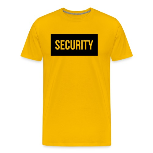 Security Balkentext groß - Männer Premium T-Shirt