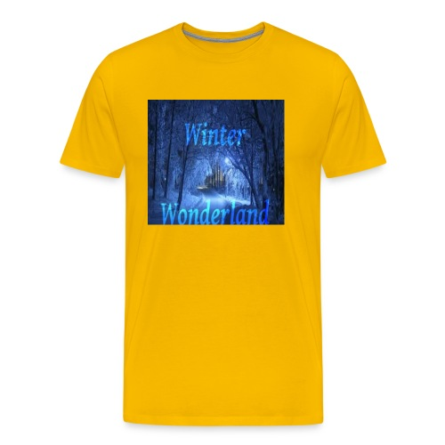Winter Wonderland - Premium T-skjorte for menn