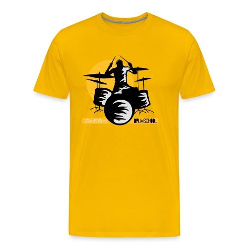 logo ivo Elfers drummer - Mannen Premium T-shirt
