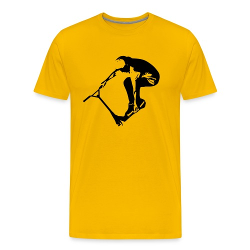 Stunt Scooter in Action 1 GREEN - Männer Premium T-Shirt