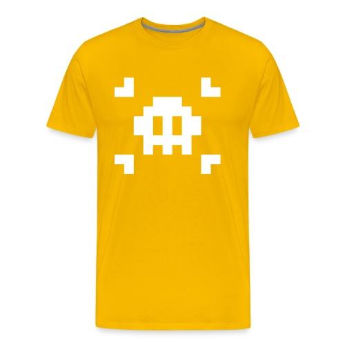 Pixel Skull - T-shirt Premium Homme