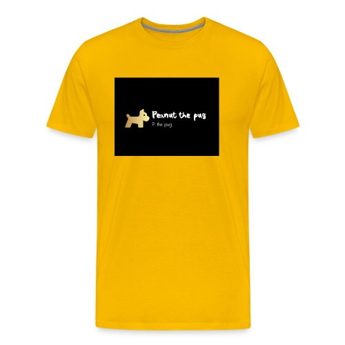 Peanut the Pug Edition - Men's Premium T-Shirt