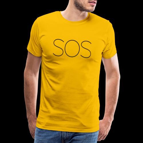Moderne Loft Stil Schrift SOS - Männer Premium T-Shirt