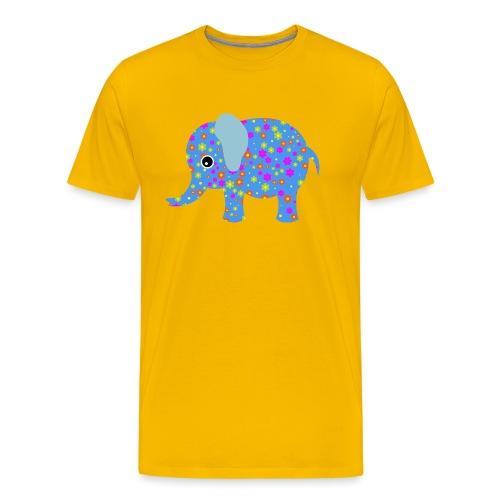 Bunter Elefant - Männer Premium T-Shirt