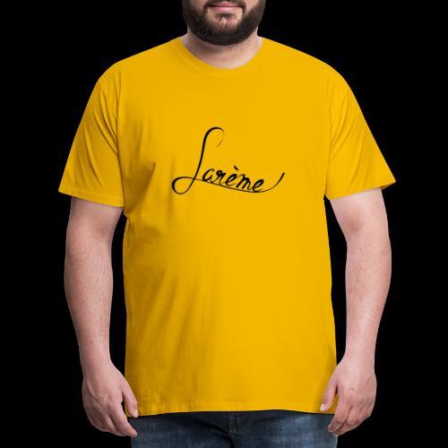 Lare mich schwarz - Männer Premium T-Shirt