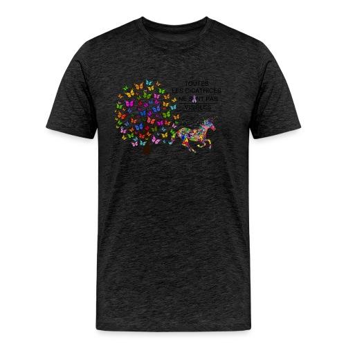 Toutes les cicatrices ne sont pas visibles - T-shirt Premium Homme
