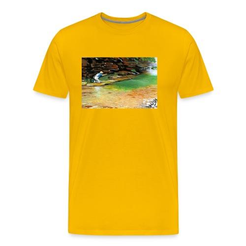Pescatore_in_lama_solitaria - Maglietta Premium da uomo
