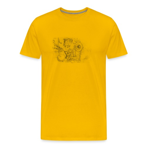 Boxer Motor - Männer Premium T-Shirt