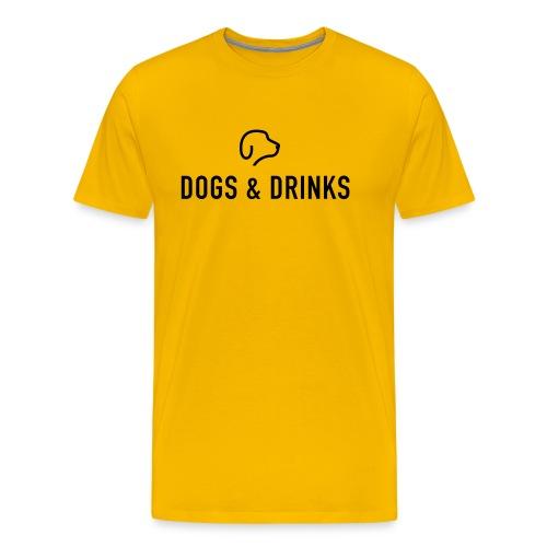 logo dogs and drinks zwart lettertype - T-shirt Premium Homme