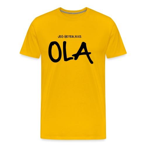 Jeg heter ikke Ola (fra Det norske plagg) - Premium T-skjorte for menn