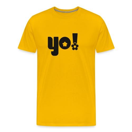 Yo power - Herre premium T-shirt