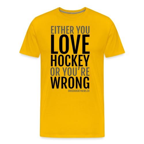 Love Hockey black - Men's Premium T-Shirt