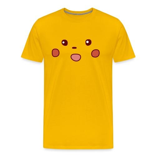 Surprised Meme Face - Mannen Premium T-shirt