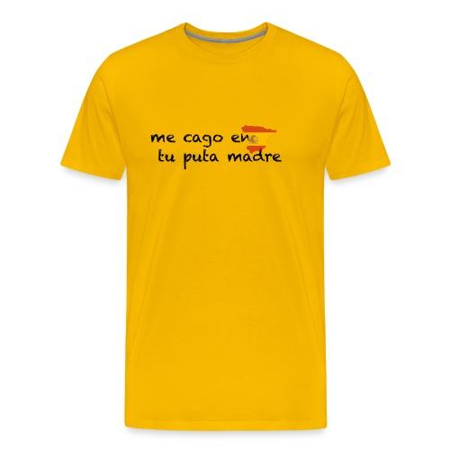 me cago en tu puta madre - schwarz - Männer Premium T-Shirt
