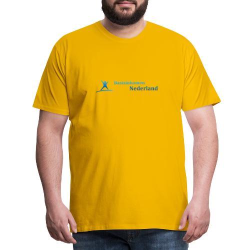 Logo Basisinkomen Nederland 2 - Mannen Premium T-shirt