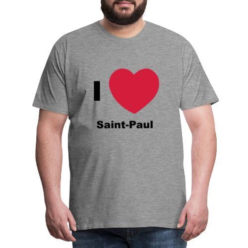 i love sainte paul - T-shirt Premium Homme
