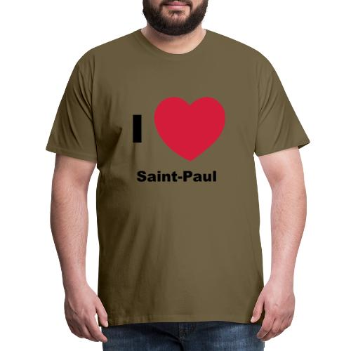 i love sainte paul - T-shirt Premium Homme