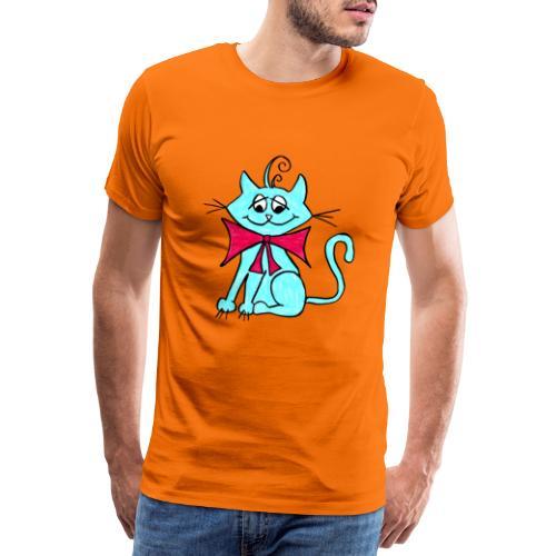 Katze blau - Männer Premium T-Shirt