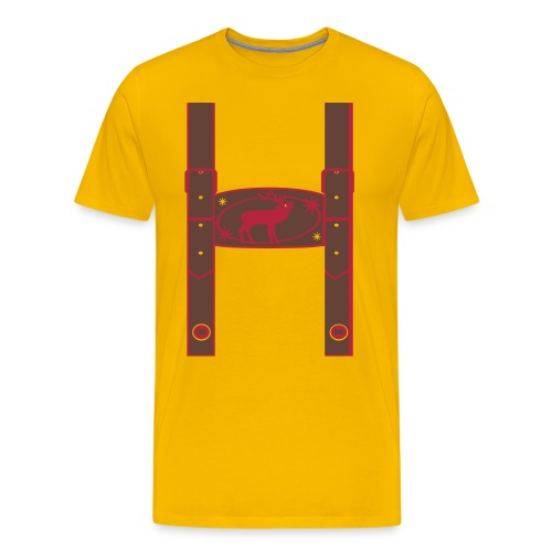 Lederhose - Männer Premium T-Shirt