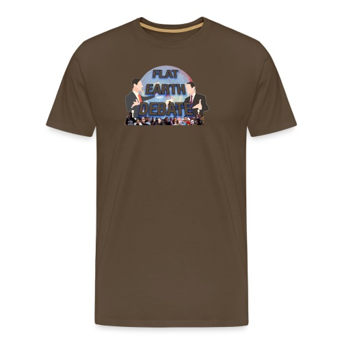 Flat Earth Debate Transparent - Men's Premium T-Shirt