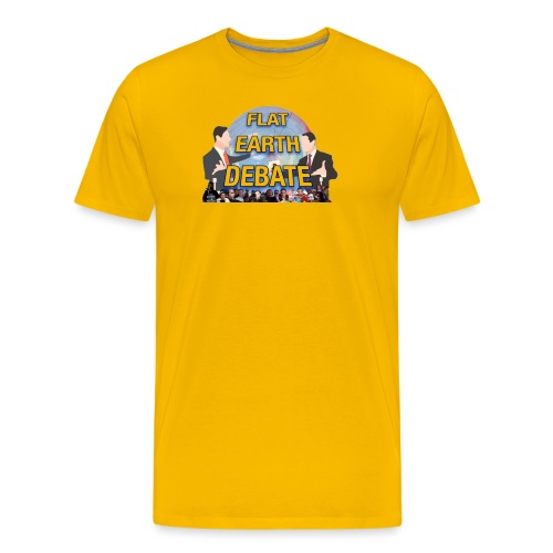 Flat Earth Debate Transparent - Men's Premium T-Shirt