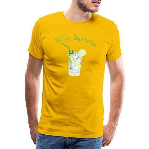 Summer Cocktail Drink Shirt Geschenk - Männer Premium T-Shirt