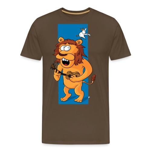 L'ours-lion et l'oiseau - T-shirt Premium Homme