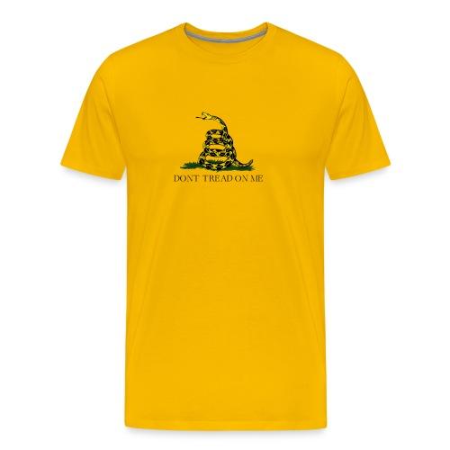 Gadsden flag transparent big - Premium-T-shirt herr