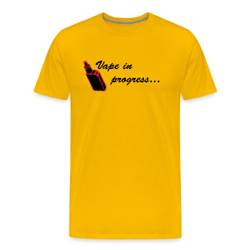 Vape In Progress 2... Jaune - T-shirt Premium Homme