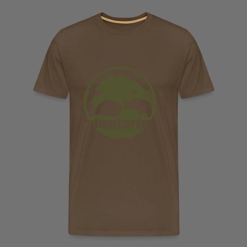 hiljainen puutarha (vihreä) - Miesten premium t-paita