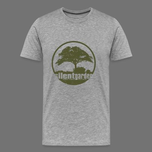 hiljainen puutarha (vihreä oldstyle) - Miesten premium t-paita