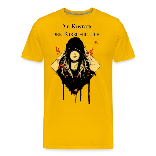 Cover Schwarz Rot Gelb - Männer Premium T-Shirt