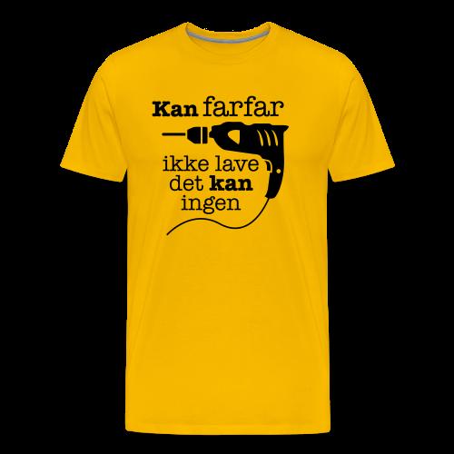 Farfar med boremaskinen - Herre premium T-shirt