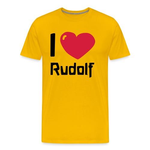 I love Rudolf - Männer Premium T-Shirt