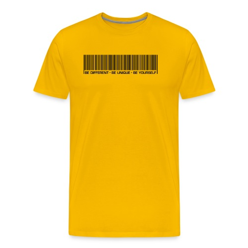 be different be unique be yourself black - Men's Premium T-Shirt