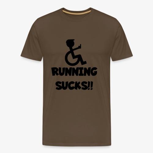 Rolstoel gebruikers haten rennen - Mannen Premium T-shirt