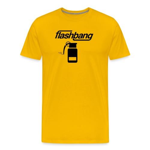 FlashBang Logga - 100kr Donation - Premium-T-shirt herr