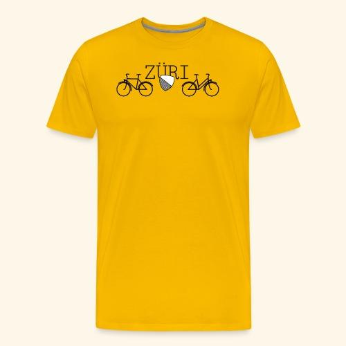 Velostadt Zürich Damen- und Herrenvelo - Männer Premium T-Shirt