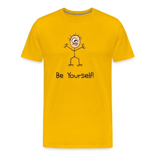 Be Yourself - Mannen Premium T-shirt