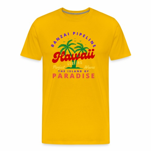 Hawaii Beach Palm Tree Retro Classic T Shirt - Men's Premium T-Shirt