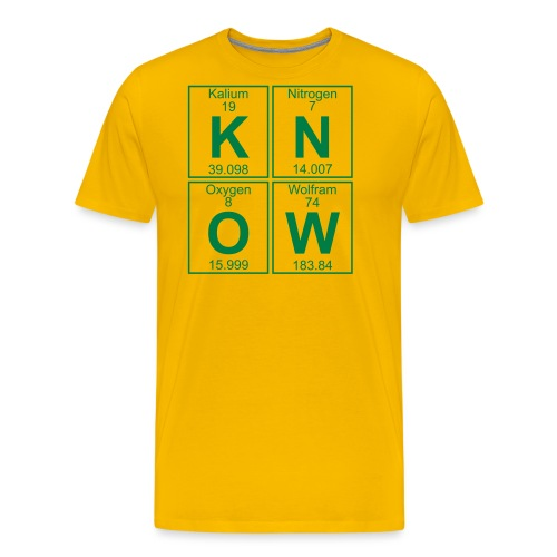 K-N-O-W (know) - Full - Men's Premium T-Shirt