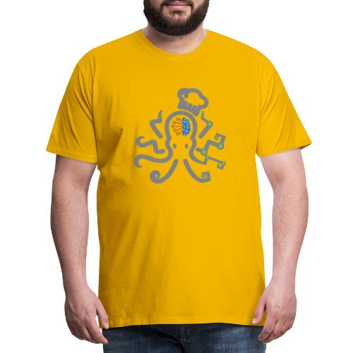 DT3 Octopus - Grey - Männer Premium T-Shirt